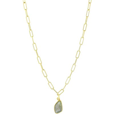 Adornia Semiprecious Stone Pendant Necklace