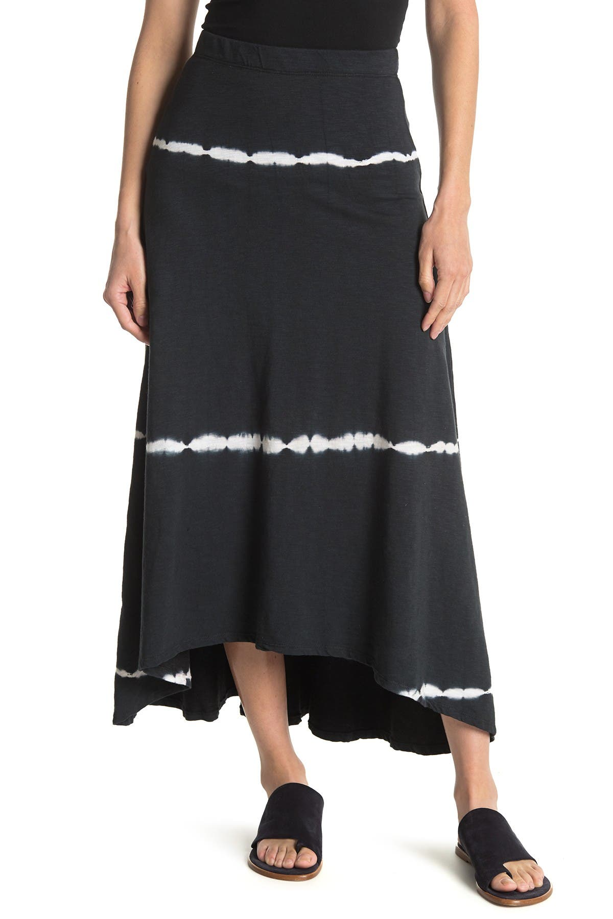 Image of Go Couture Printed High/Low Skirt