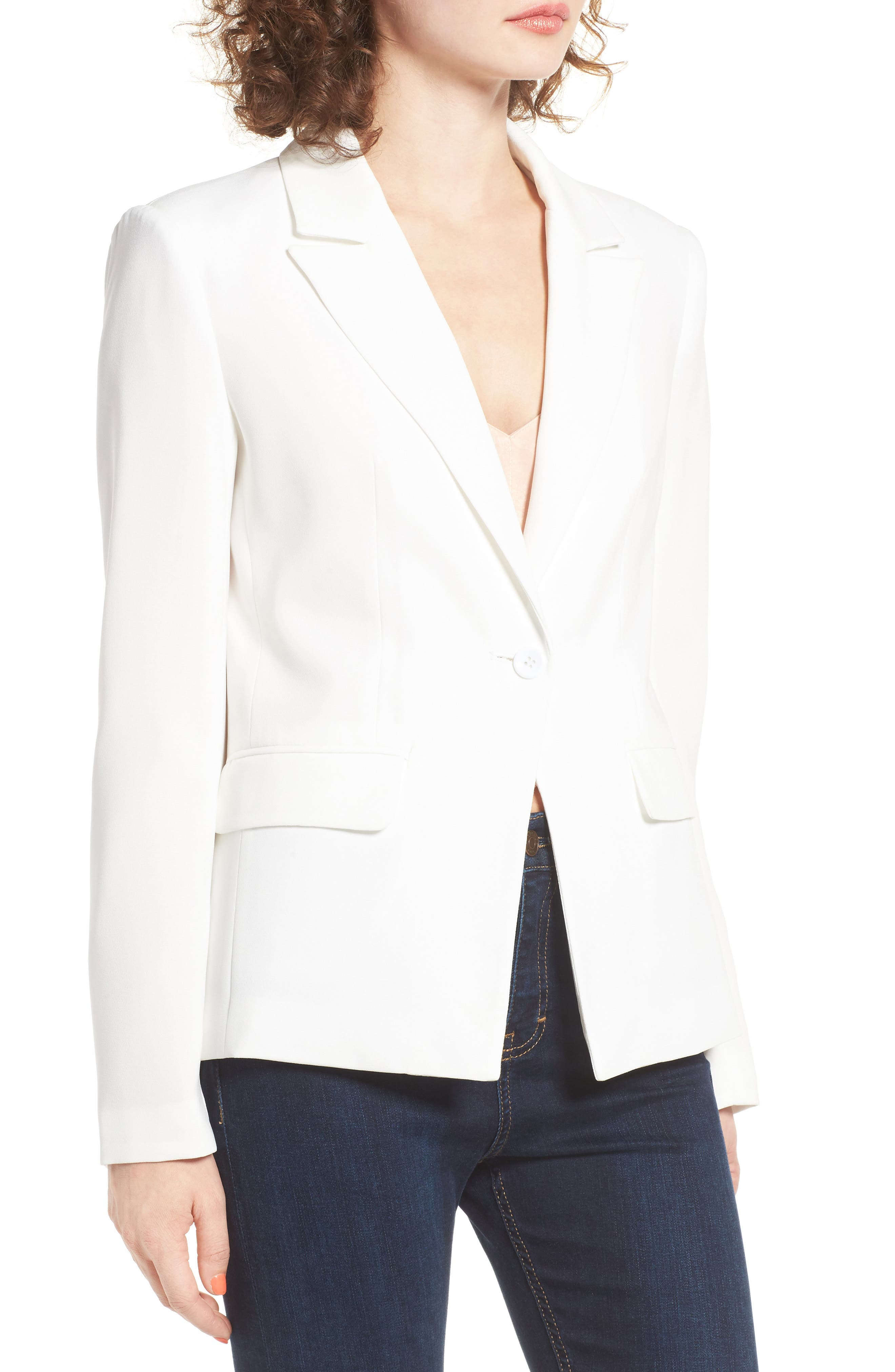 ,                             Structured Blazer,                             Alternate thumbnail 8, color,                             100