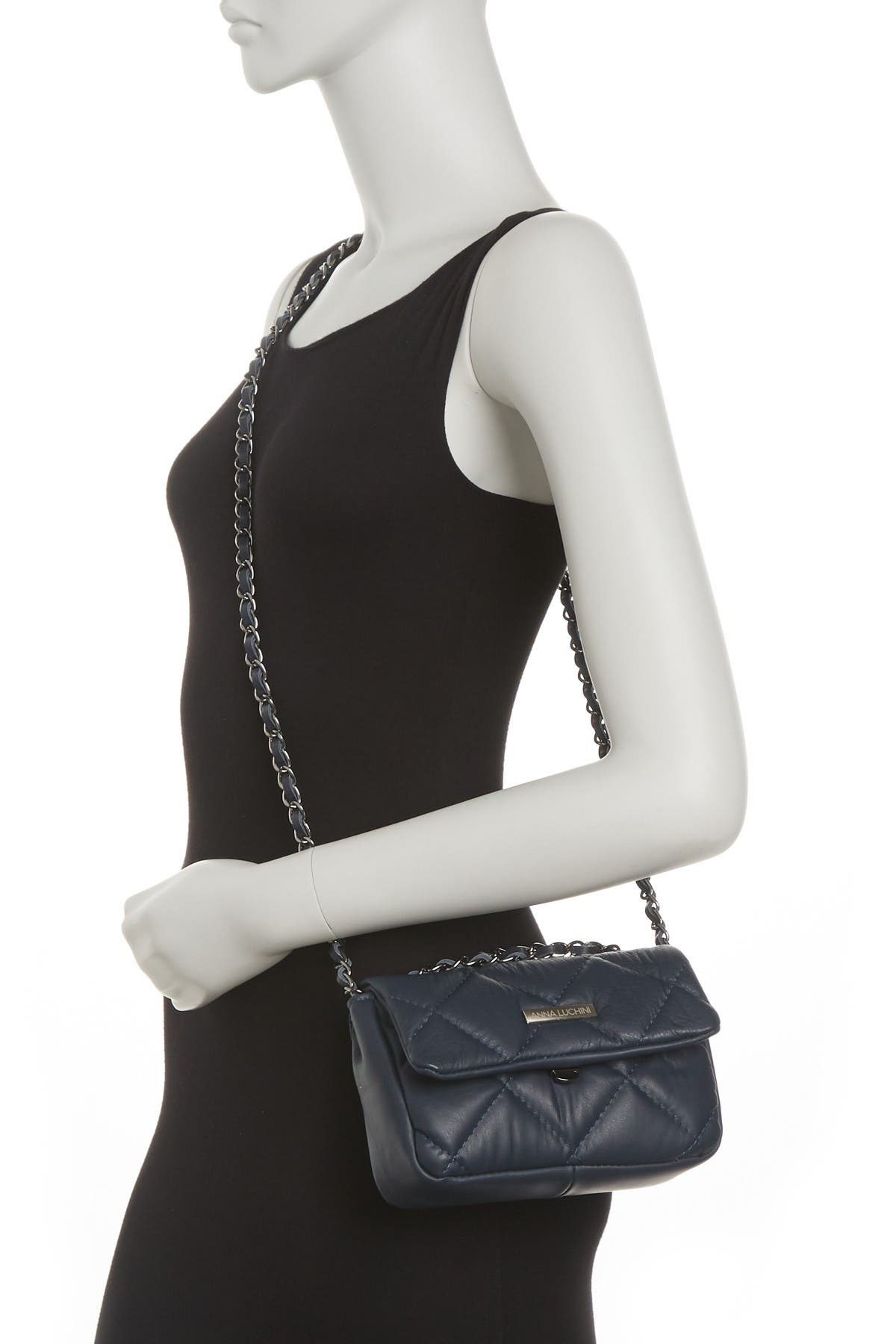 Image of Anna Luchini Quilted Crossbody Bag