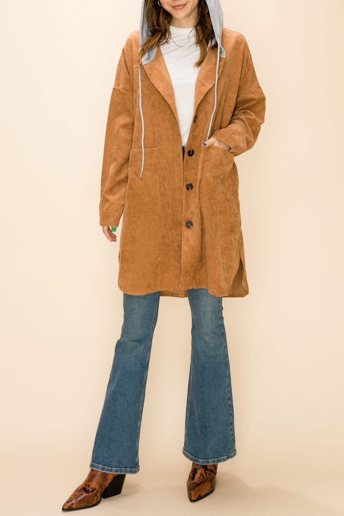 HYFVE Hooded Corduroy Jacket