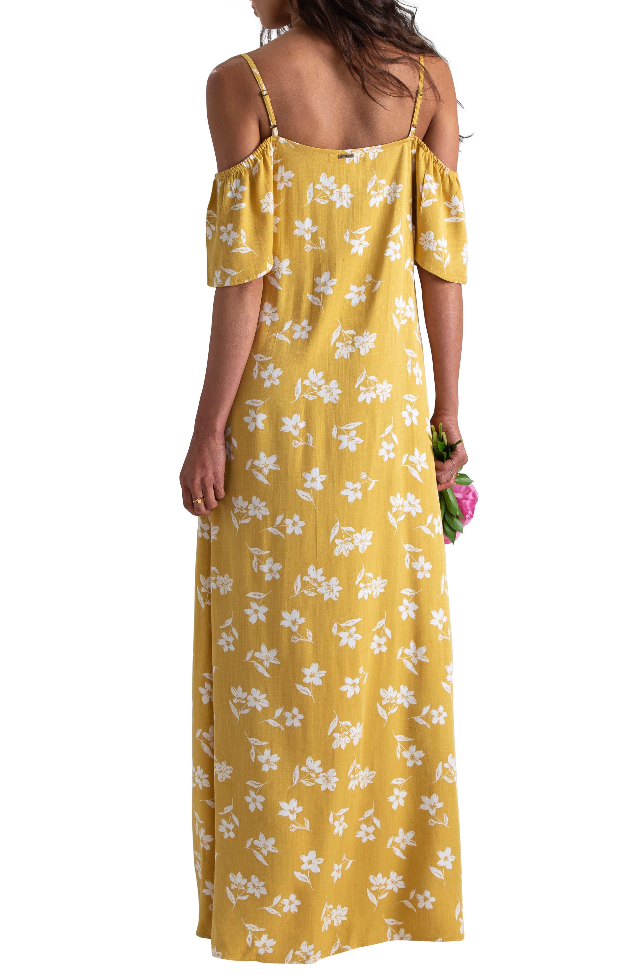 ,                             x Sincerely Jules Cold Shoulder Sway Maxi Dress,                             Alternate thumbnail 4, color,                             CITRUS