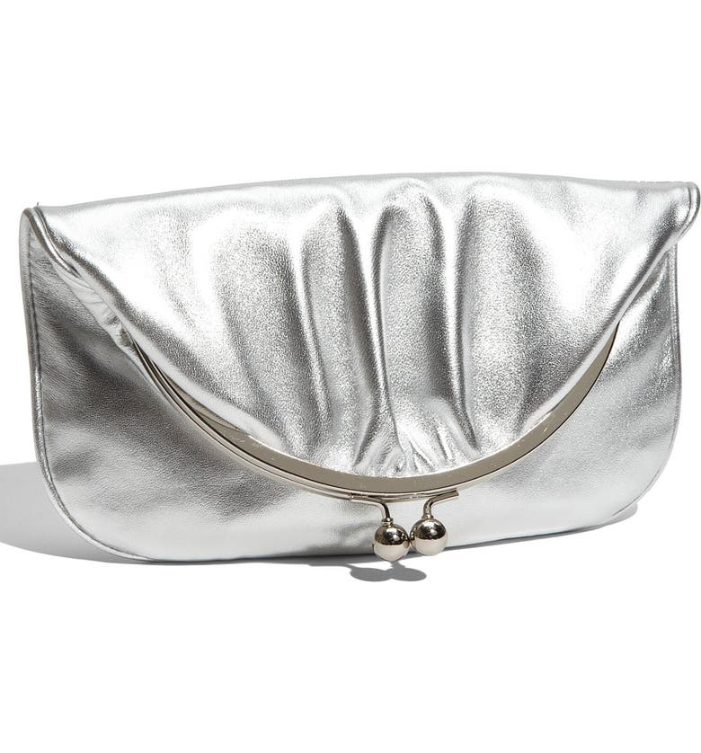 HOBO 'Skyler' Metallic Leather Foldover Clutch, Main, color, 040