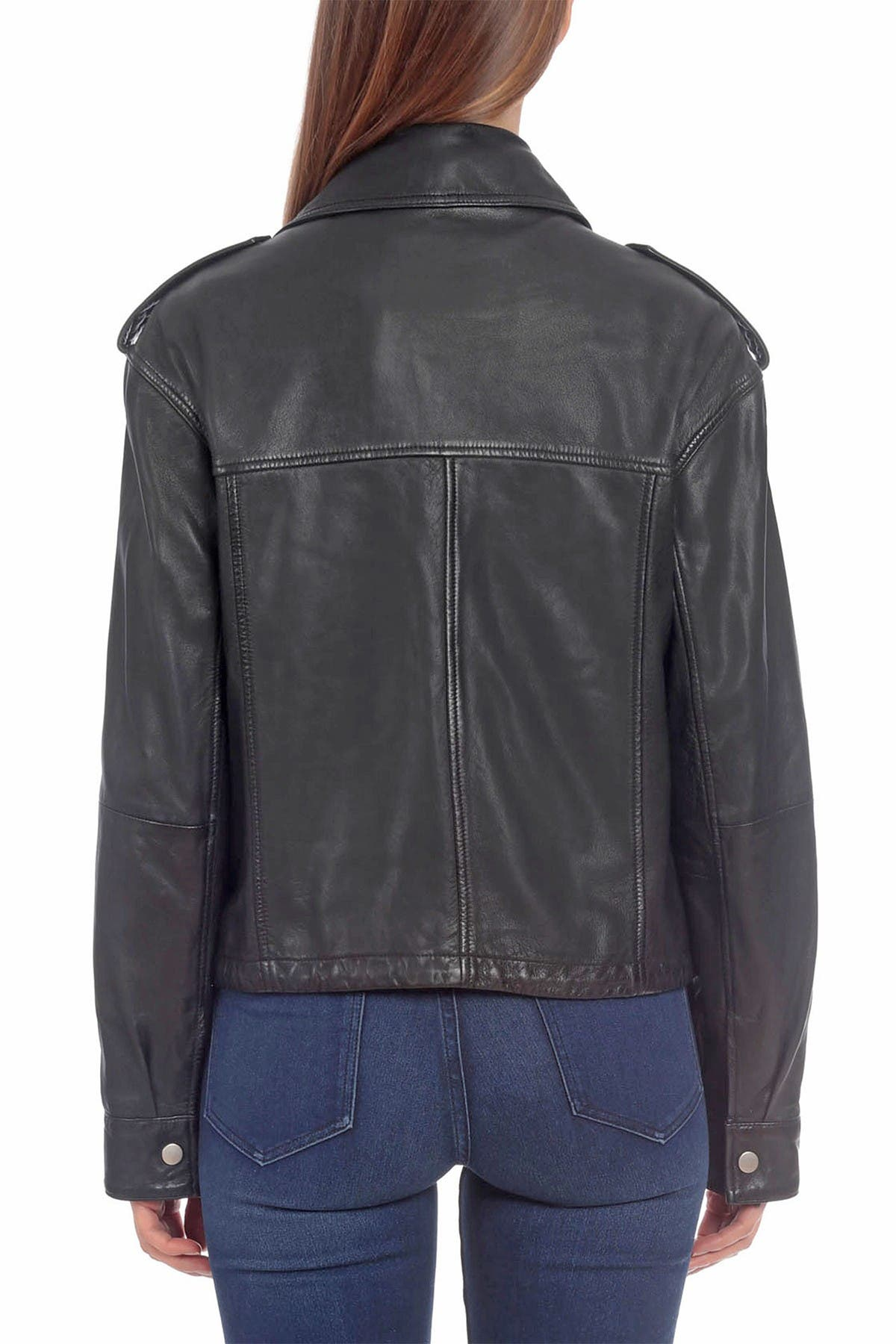 Image of Bagatelle Leather Army Jacket