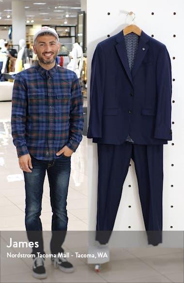 Jay Trim Fit Plaid Stretch Wool Suit, sales video thumbnail
