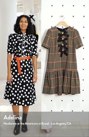 x Atlantic-Pacific Bow Detail Plaid Dress, sales video thumbnail