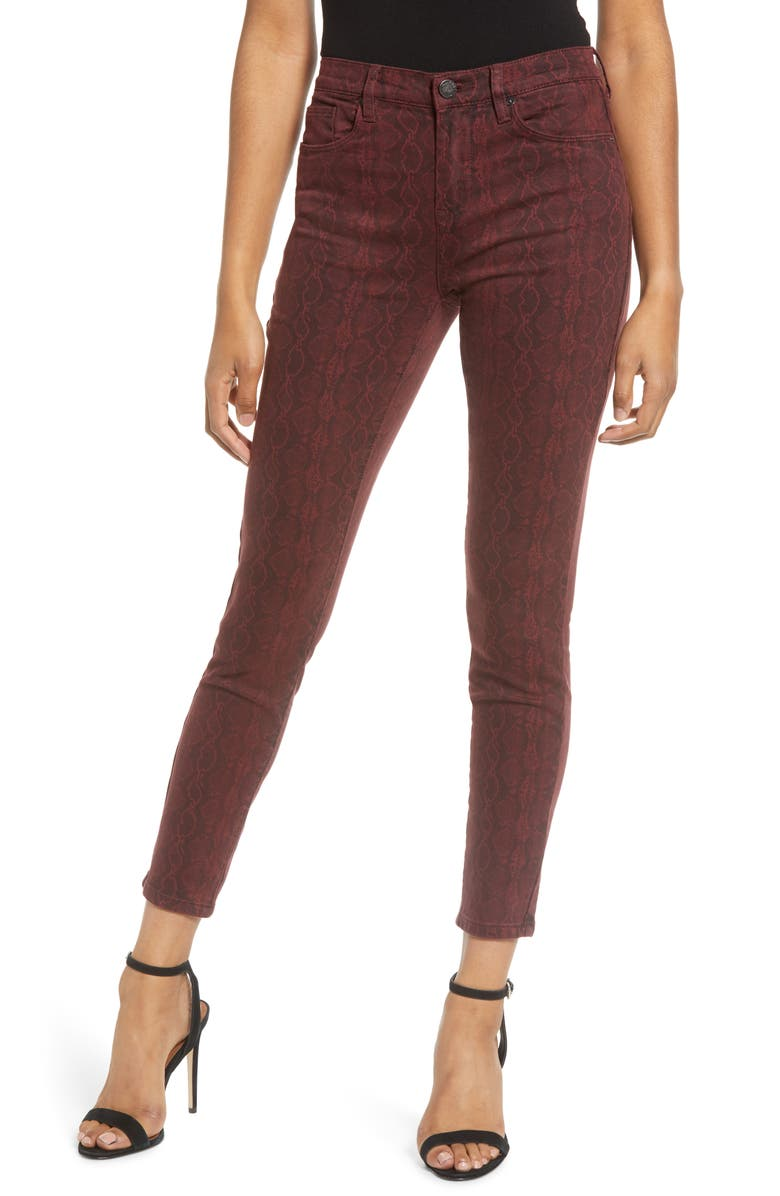 BLANKNYC Snake Print Skinny Jeans, Main, color, RATTLED UP