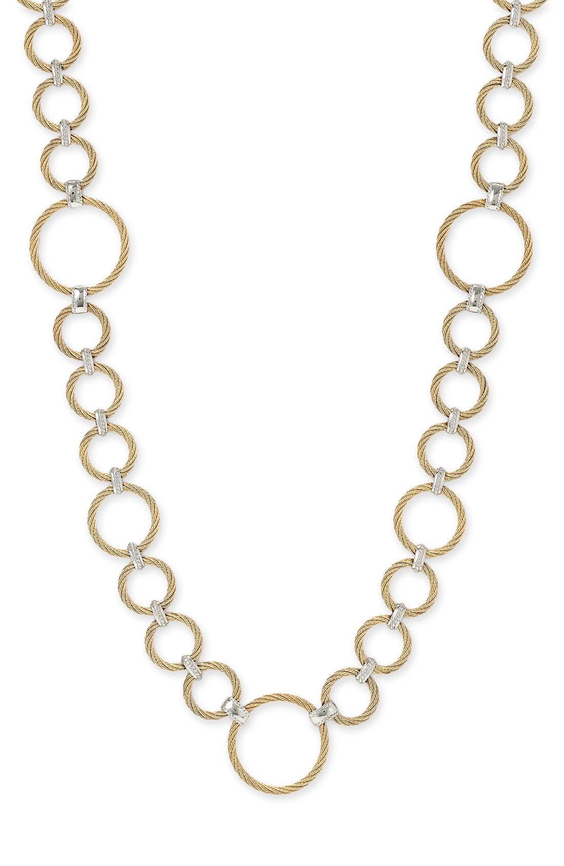 ,                             Long Link Necklace,                             Main thumbnail 1, color,                             710