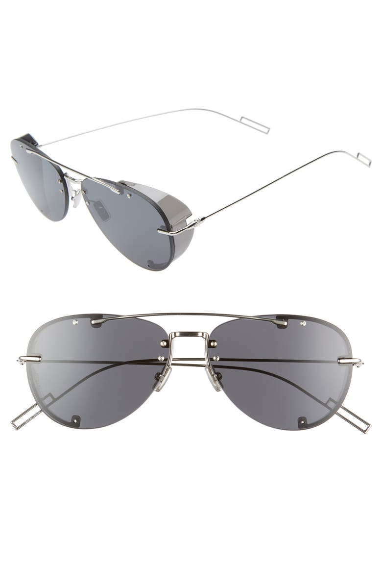 DIOR Homme 59mm Aviator Sunglasses, Main, color, 040