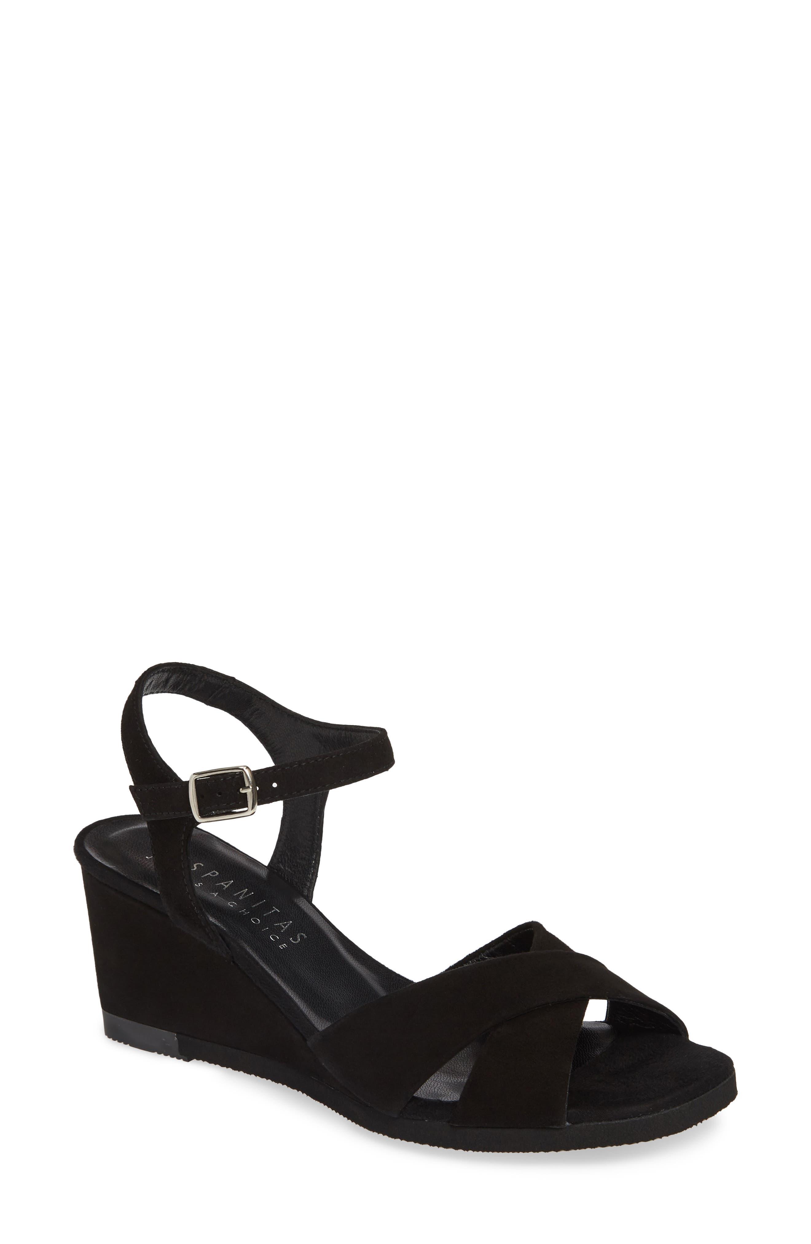 Hispanitas Codie Wedge Sandal - Black