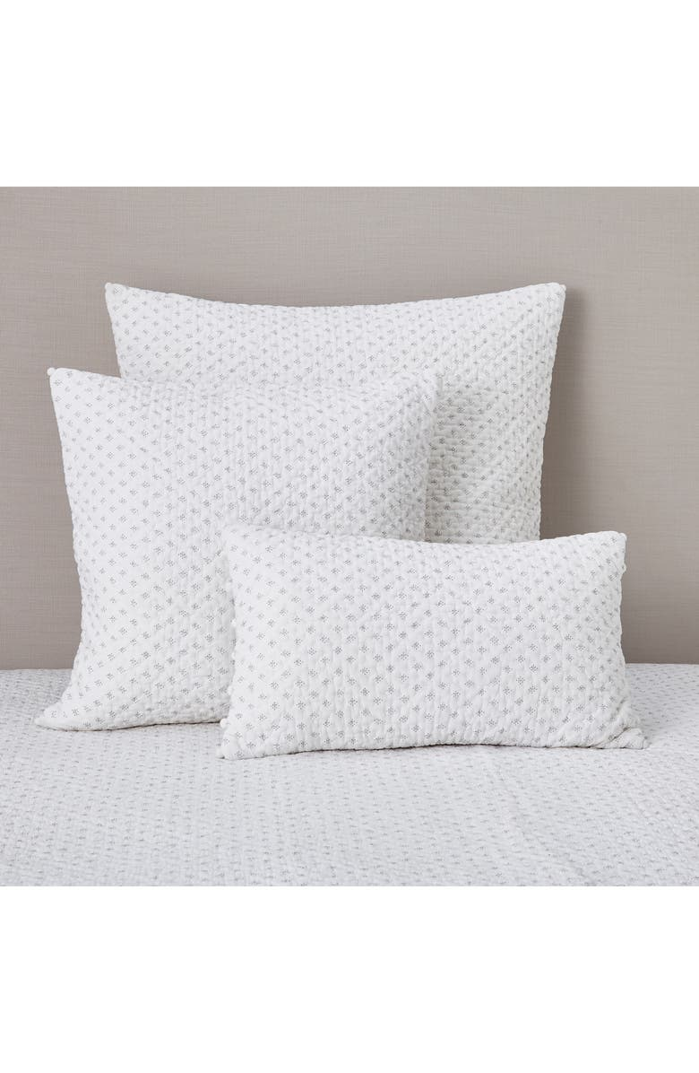 THE WHITE COMPANY Brittany Square Cushion Cover, Main, color, WHITE/ GREY
