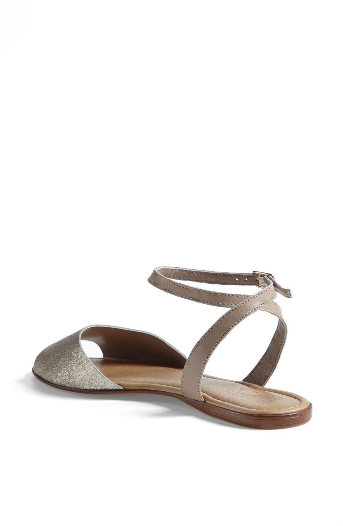 ,                             'Brand New' Ankle Strap Calf Hair Sandal,                             Alternate thumbnail 6, color,                             061