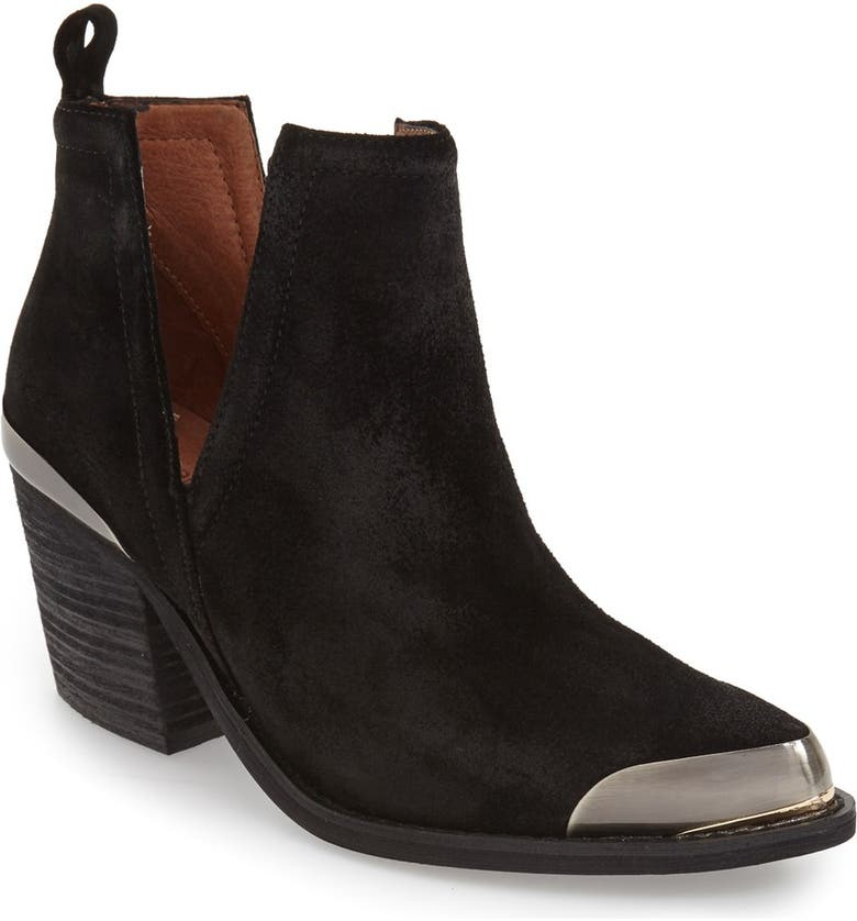 JEFFREY CAMPBELL 'Optimum' Split Shaft Bootie, Main, color, 003
