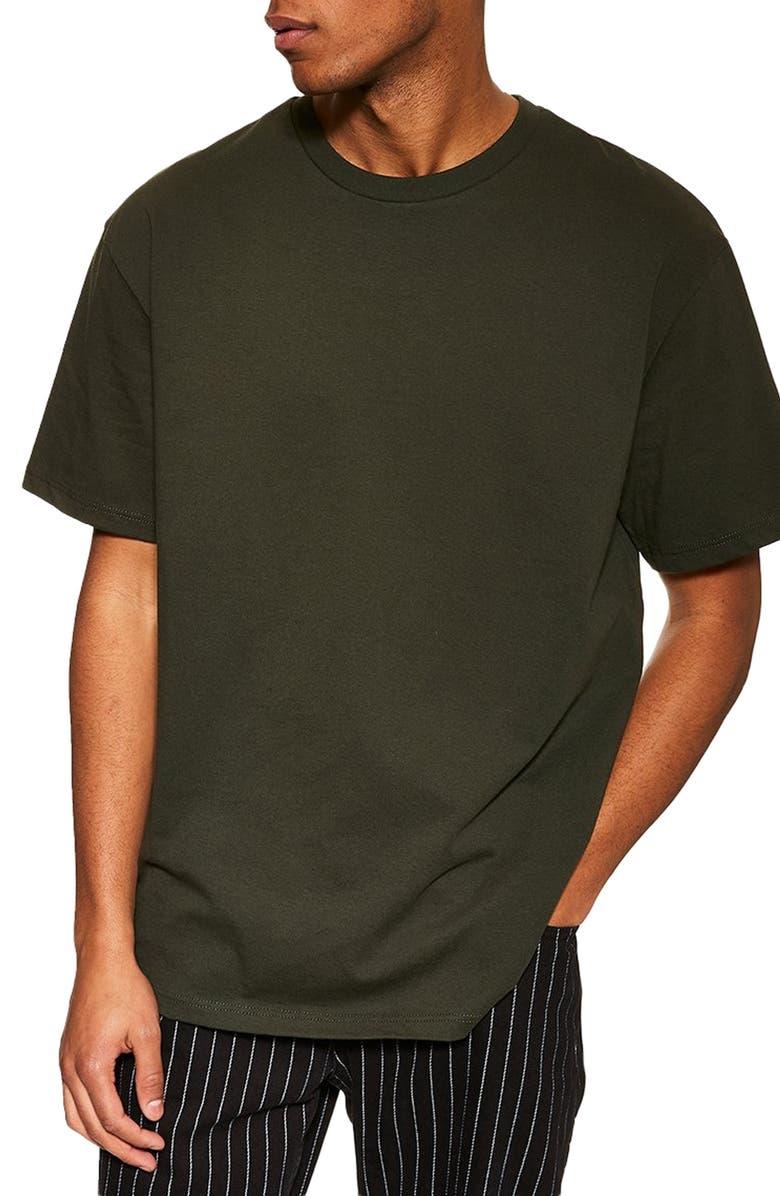 TOPMAN Oversize T-Shirt, Main, color, OLIVE