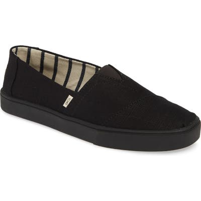 Toms Alpargata Cupsole Slip-On- Black