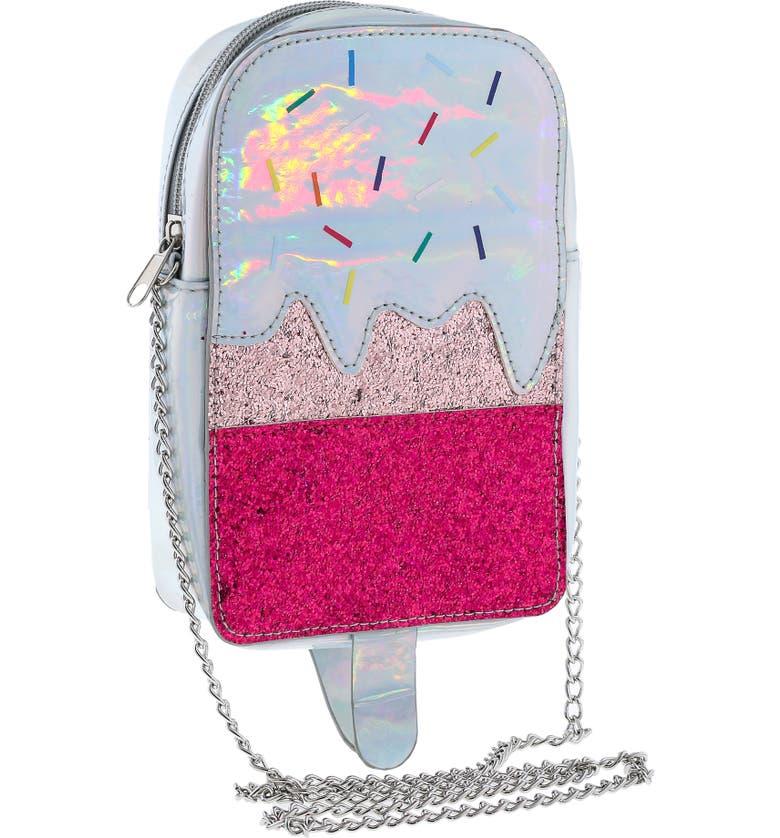 CAPELLI NEW YORK Holographic Ice Pop Crossbody Bag, Main, color, 040