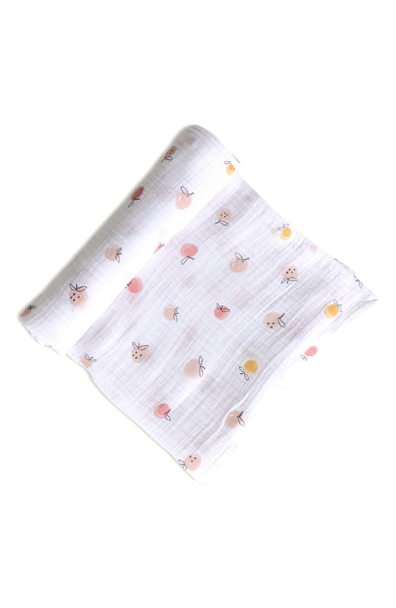 PEHR Strawberry Fields Organic Cotton Swaddle Blanket, Main, color, 100