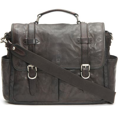Frye Murray Leather Briefcase - Grey