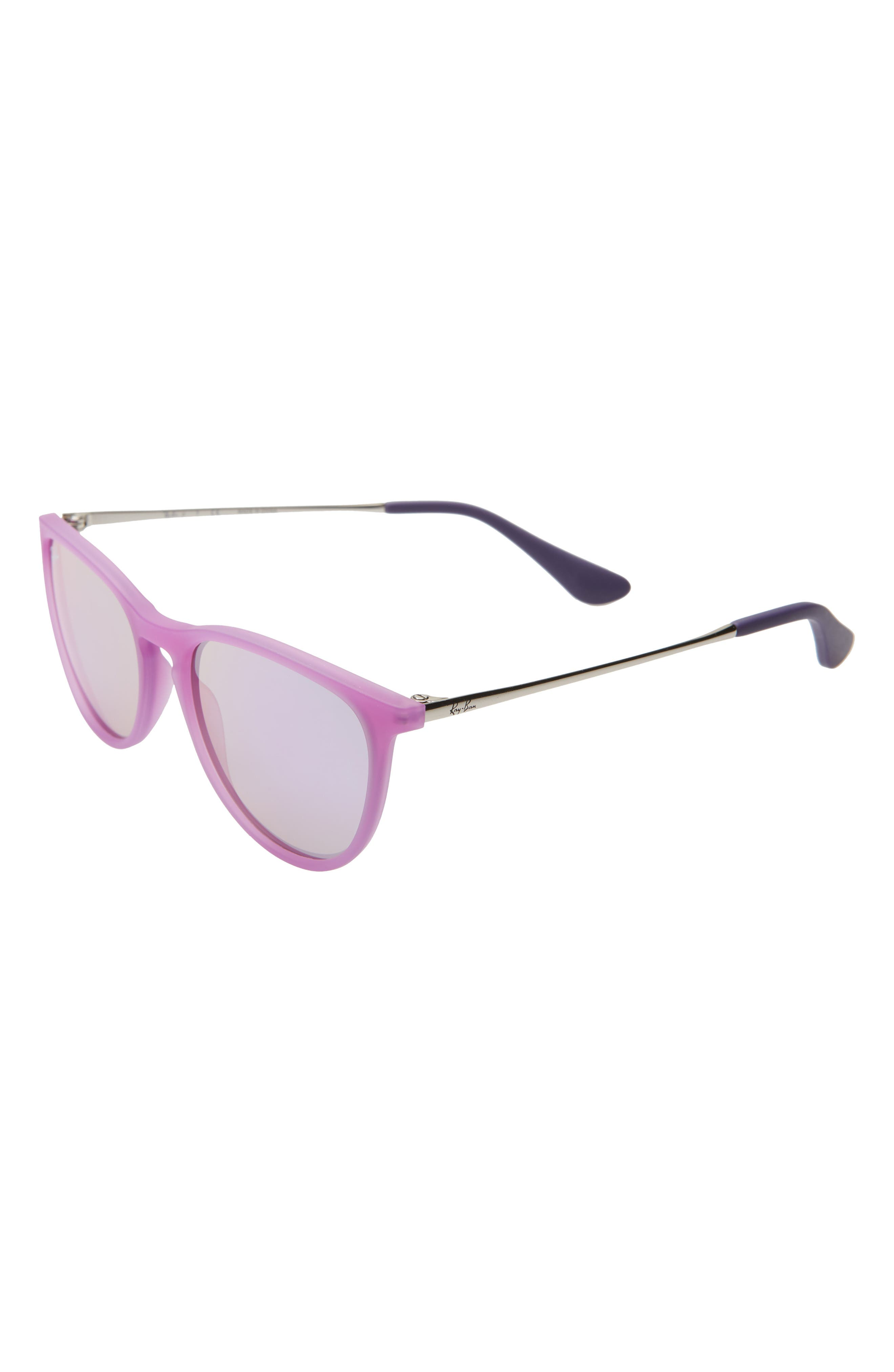 ray-bay junior izzy 50mm mirrored sunglasses - ultra violet/ violet mirror