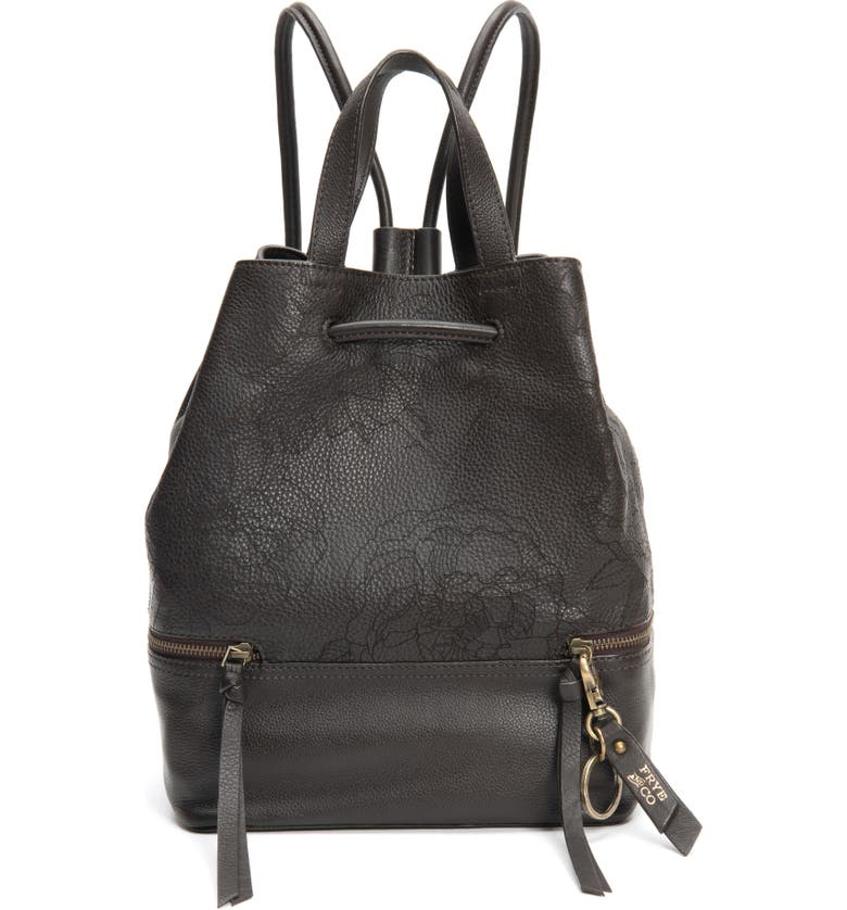 FRYE AND CO Piper Leather Backpack, Main, color, CHOCOLATE