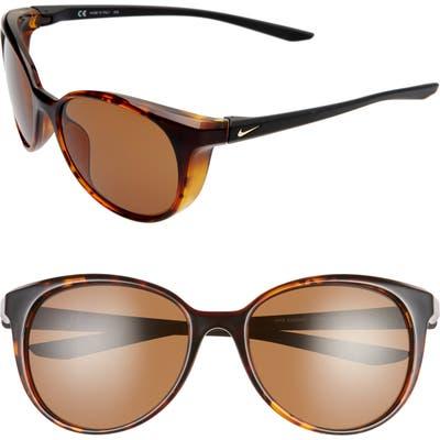 Nike Essence 50mm Cat Eye Sunglasses - Tortoise/ Gold Brown