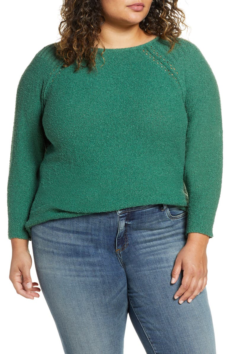 CASLON<SUP>®</SUP> Bouclé Bateau Neck Sweater, Main, color, 301