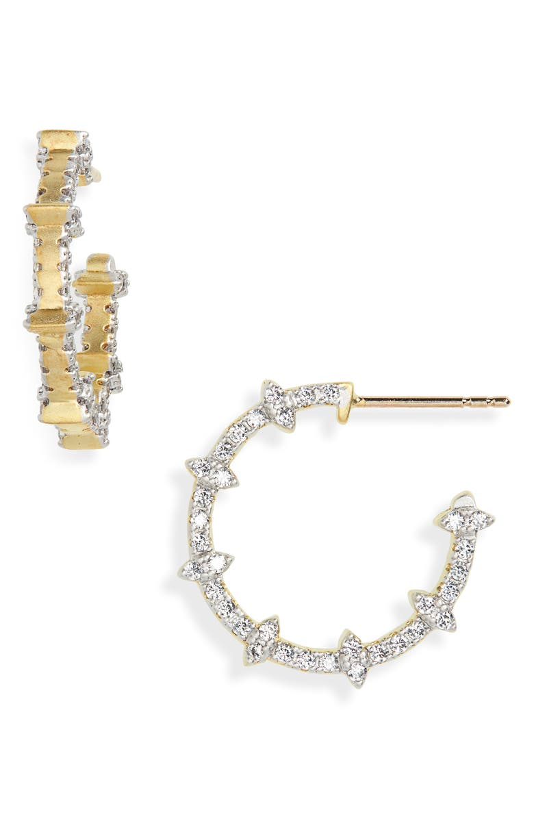 Fleur Bloom Empire Hoop Earrings by Freida Rothman