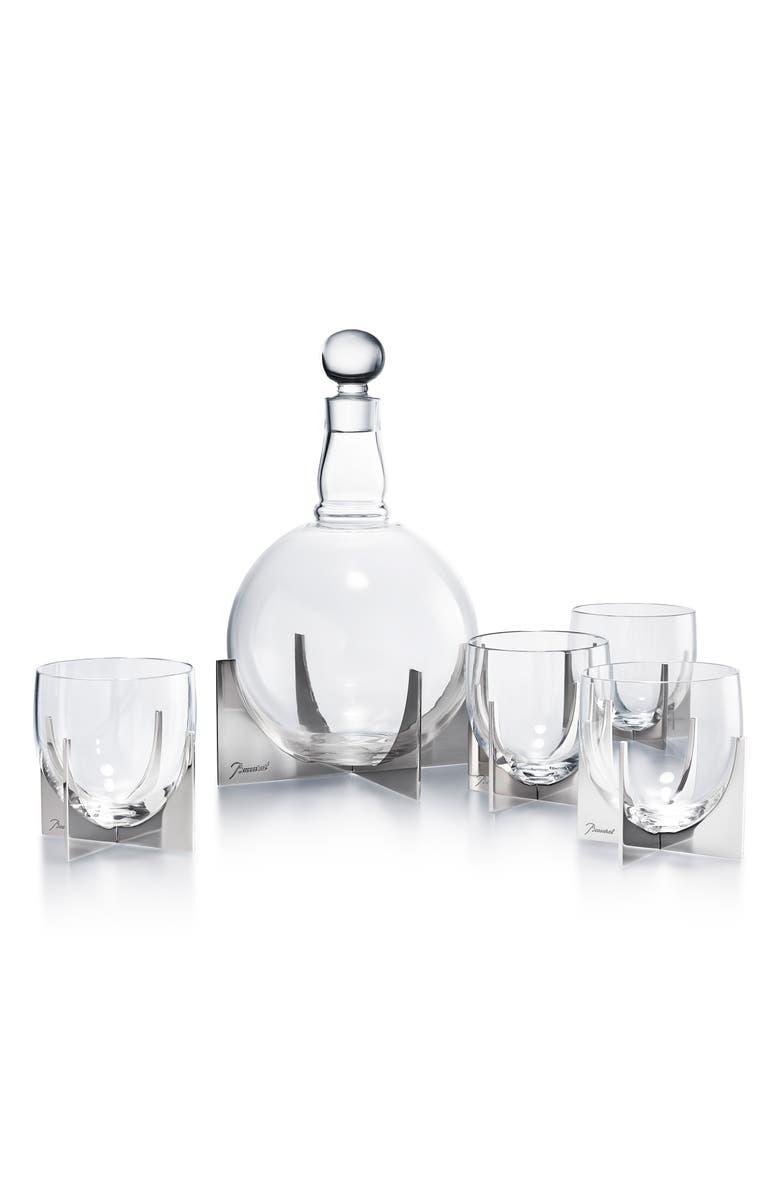 BACCARAT Paraison 5-Piece Lead Crystal Decanter Set, Main, color, CLEAR