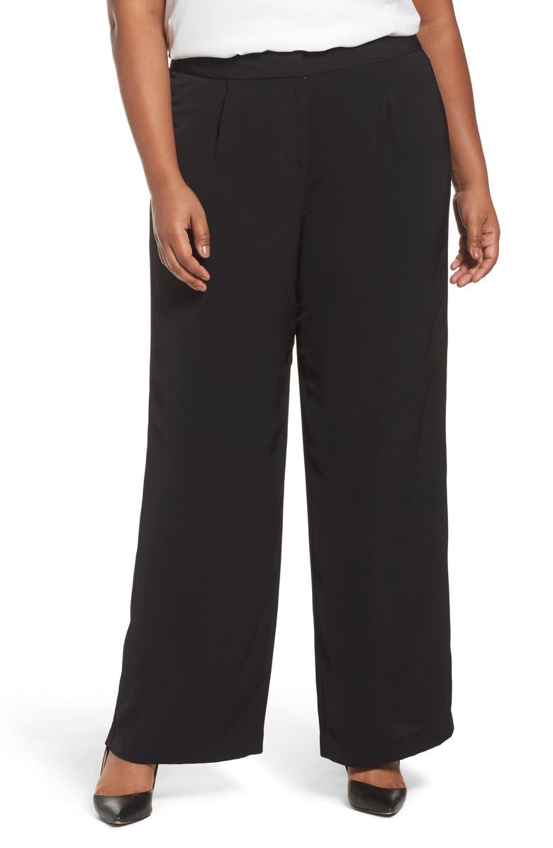 SEJOUR Fluid Wide Leg Pants, Main, color, 001