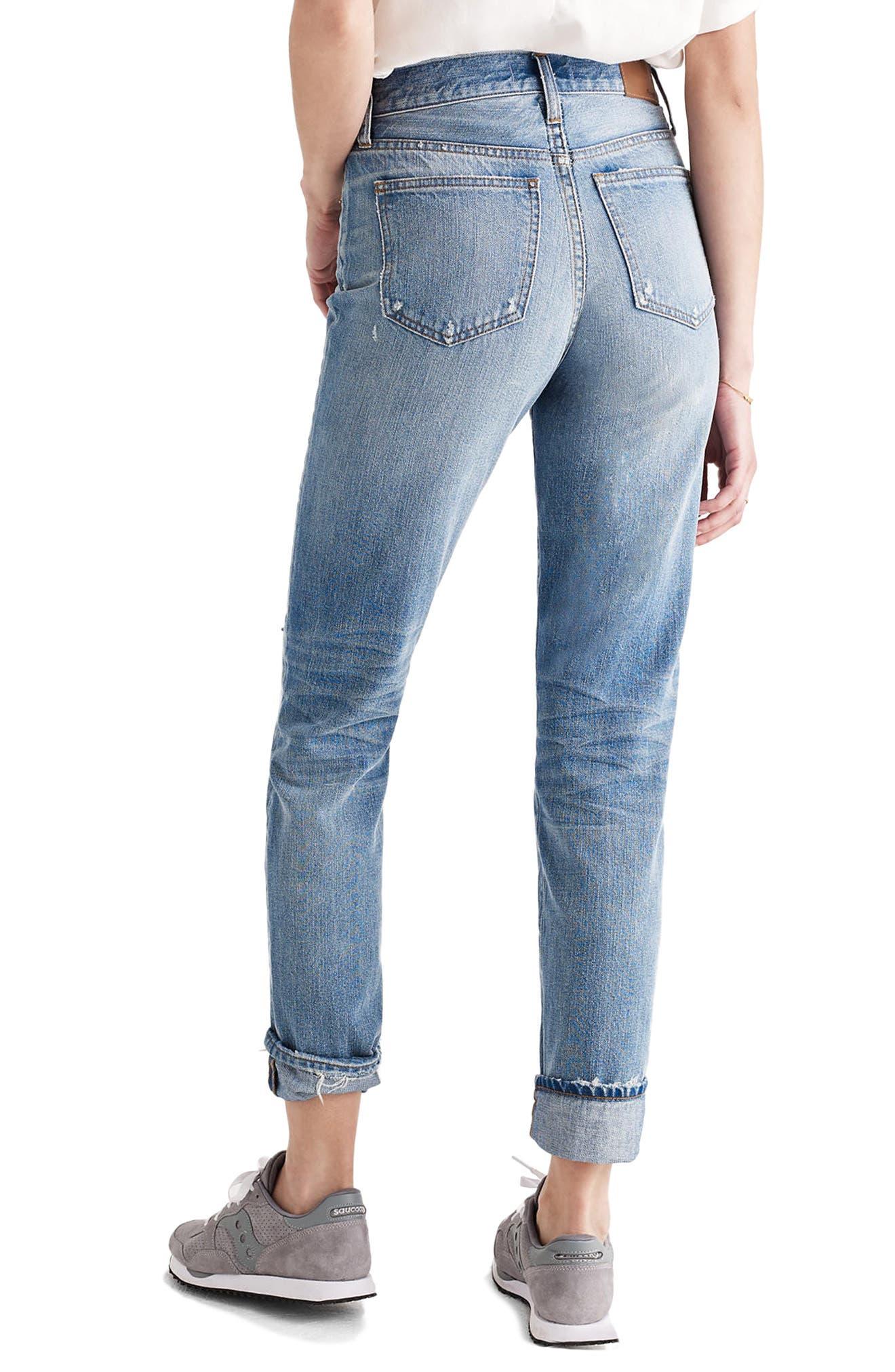 ,                             Perfect Vintage Ripped High Waist Boyfriend Jeans,                             Alternate thumbnail 2, color,                             400