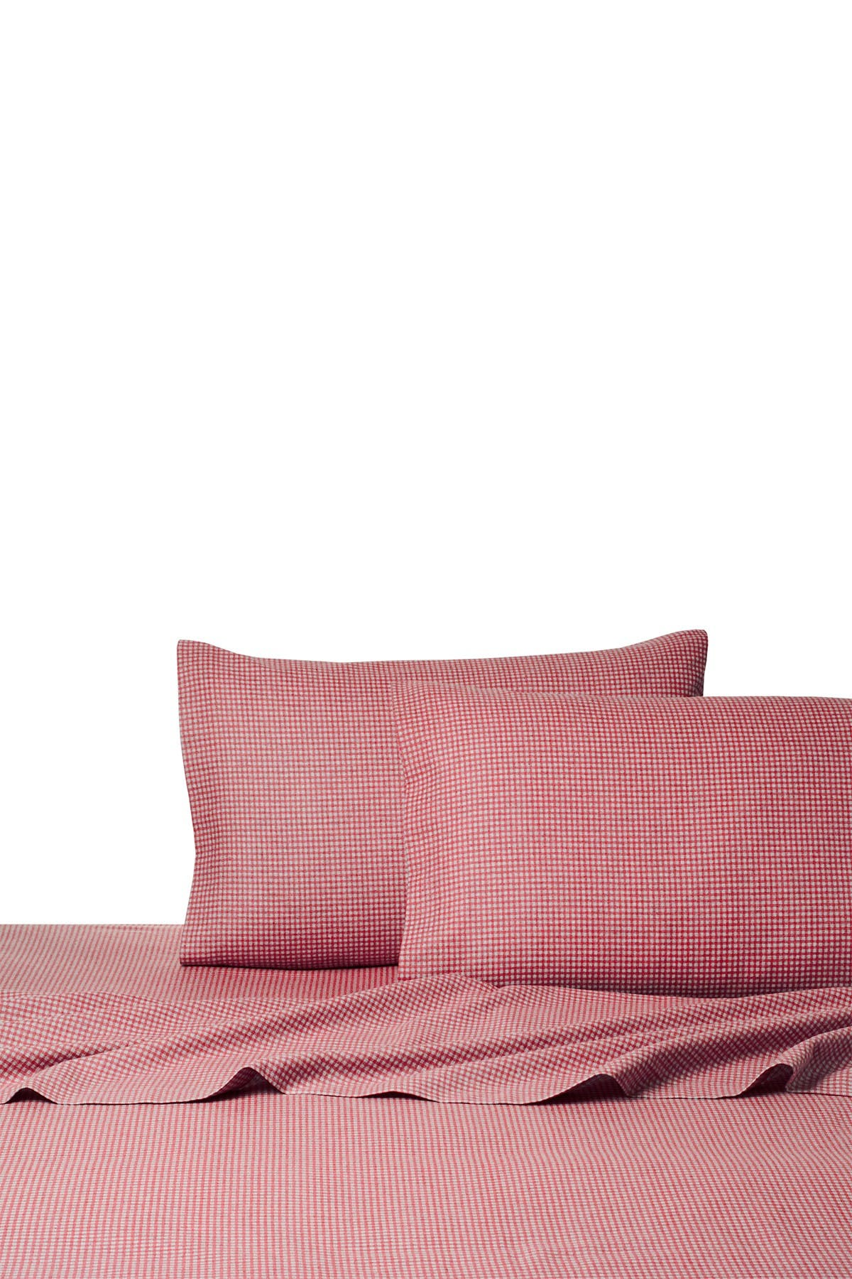 Image of Belle Epoque Heather Ground Flannel Gingham Red - King