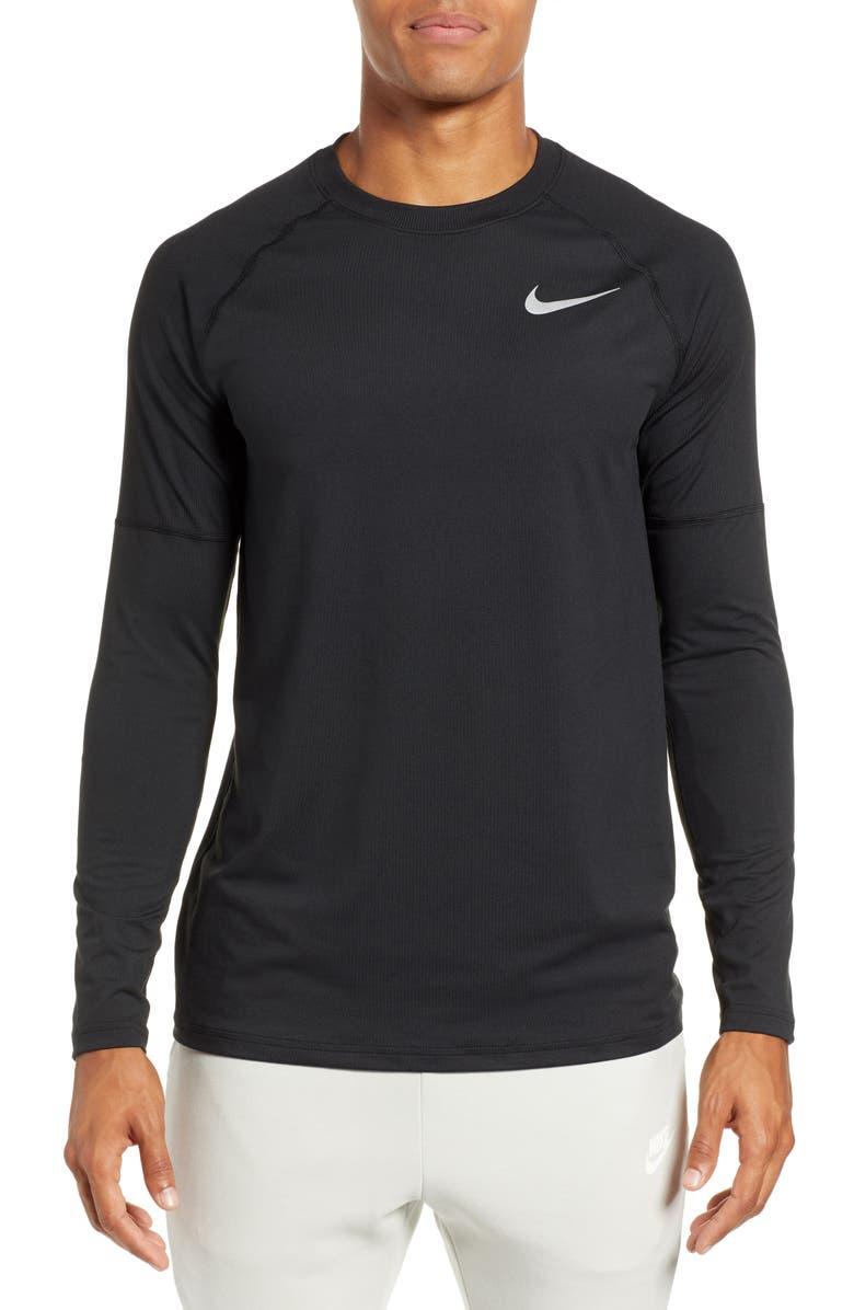NIKE Element Dry Crewneck Running T-Shirt, Main, color, 010