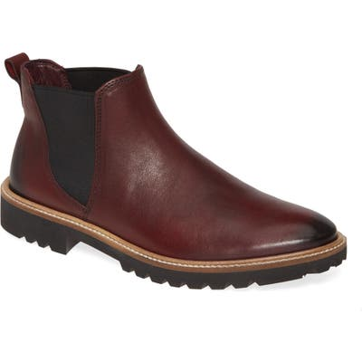 Ecco Incise Tailored Chelsea Boot, Burgundy