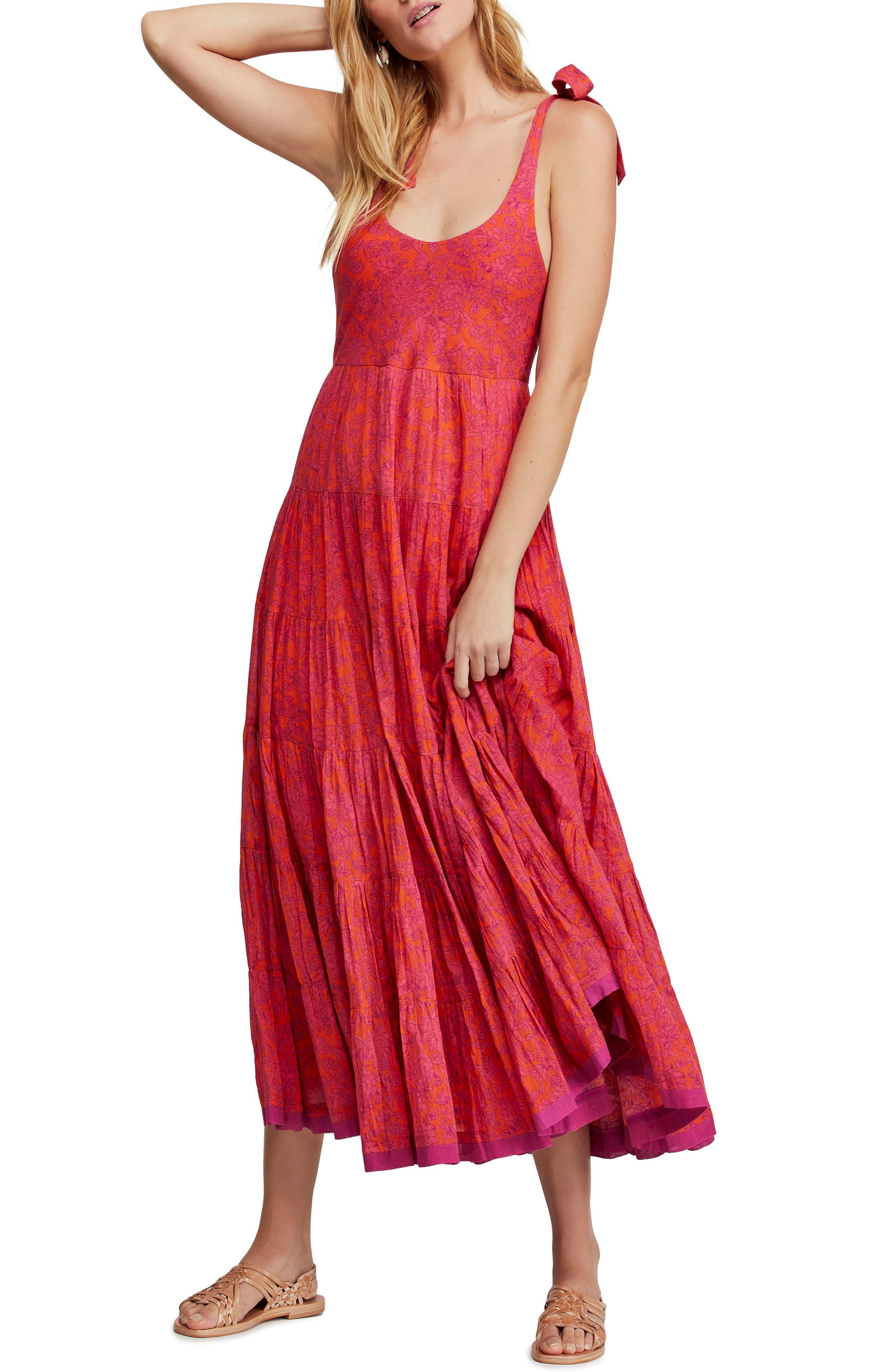 Free People Kikas Print Dress, Pink