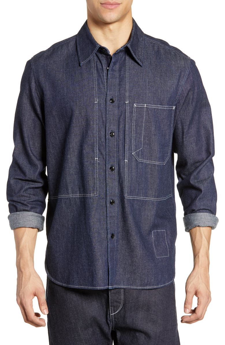 RAG & BONE Chore Slim Fit Shirt, Main, color, 470