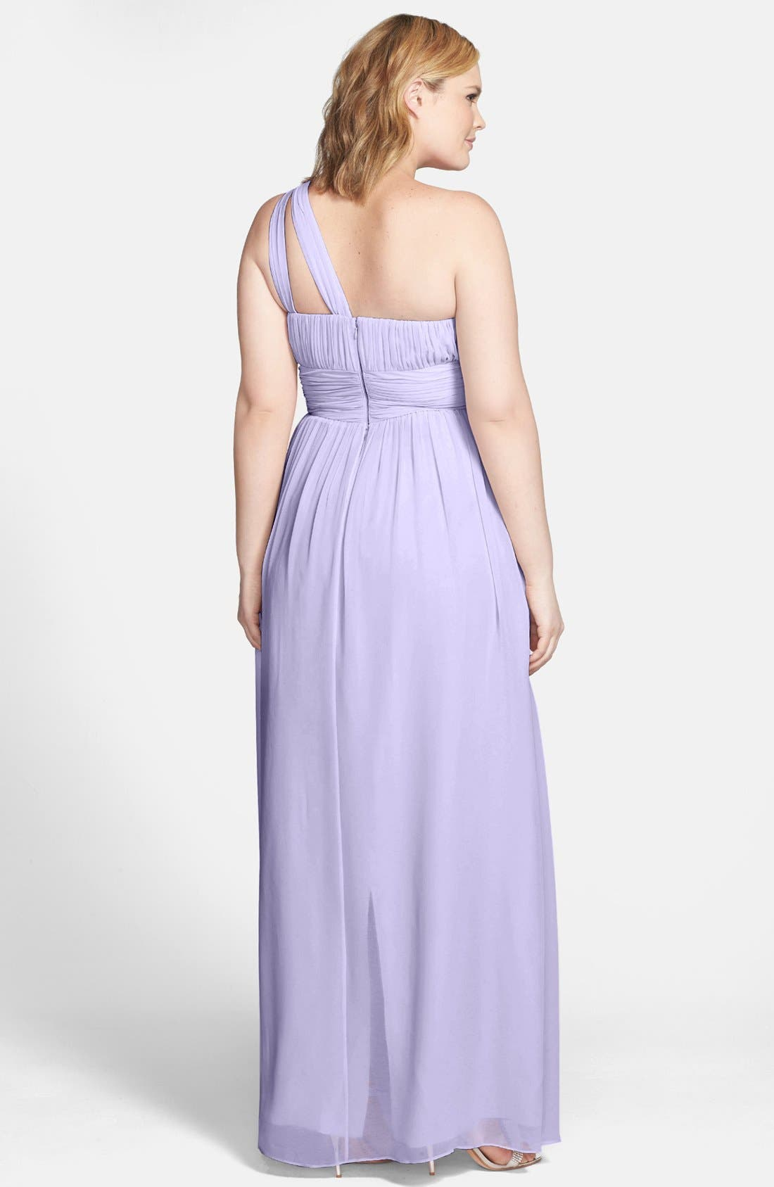 ,                             'Rachel' Ruched One-Shoulder Chiffon Gown,                             Alternate thumbnail 93, color,                             527