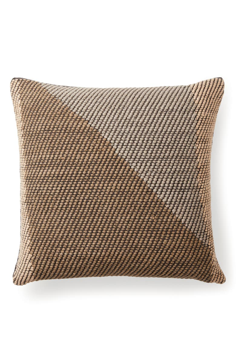 MINNA Angle Accent Pillow, Main, color, COFFEE