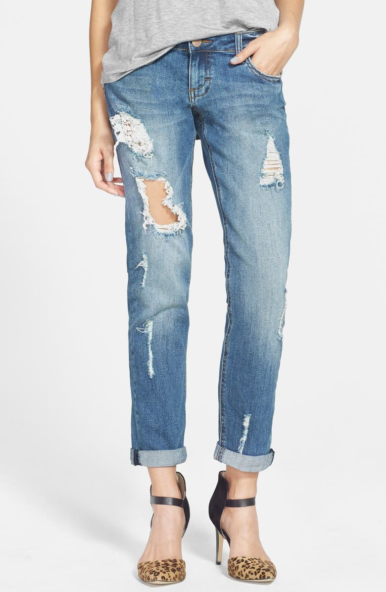 SUN & SHADOW Destroyed Jeans, Main, color, 420