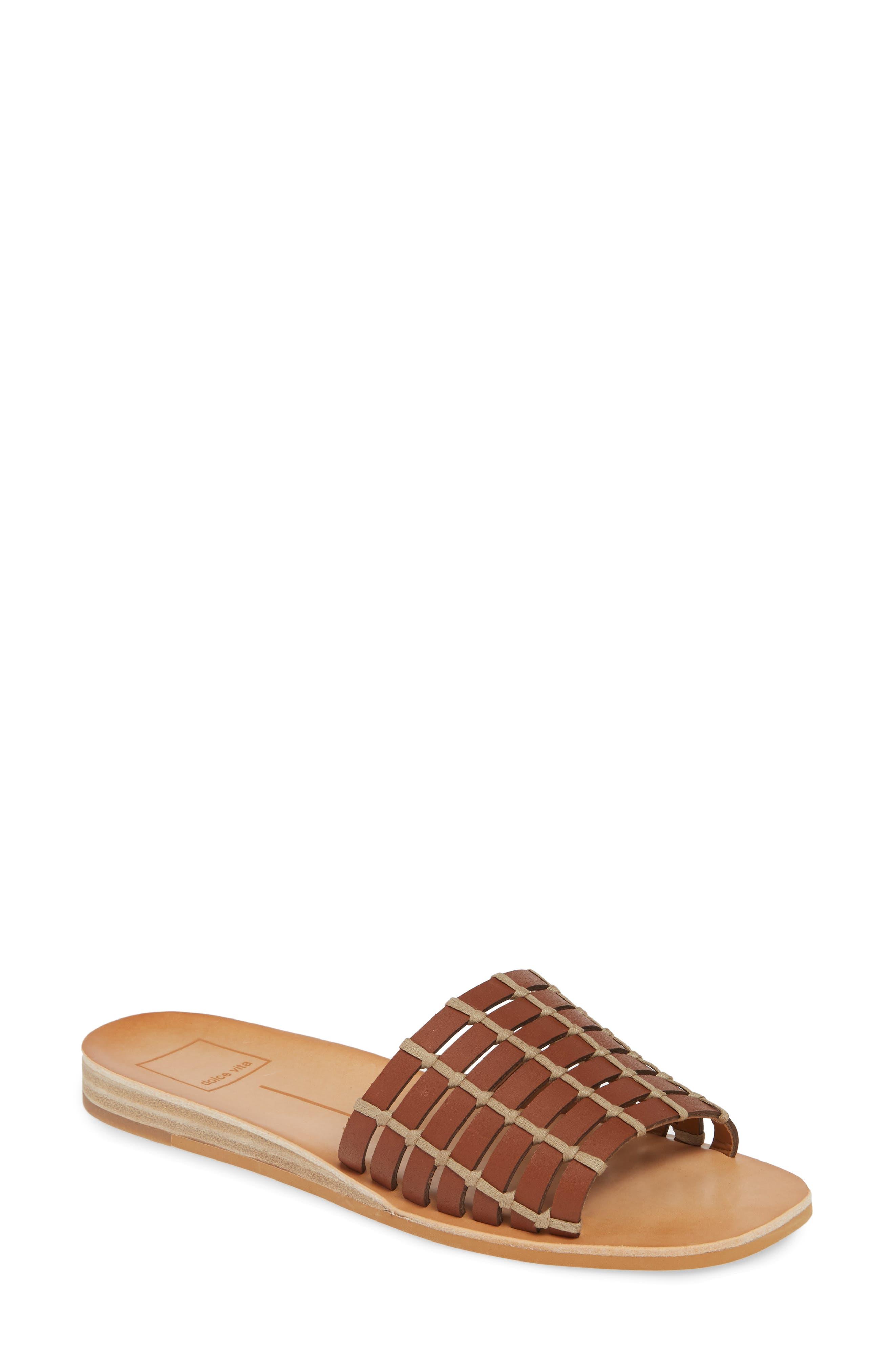 Dolce Vita Colsen Slide Sandal- Brown