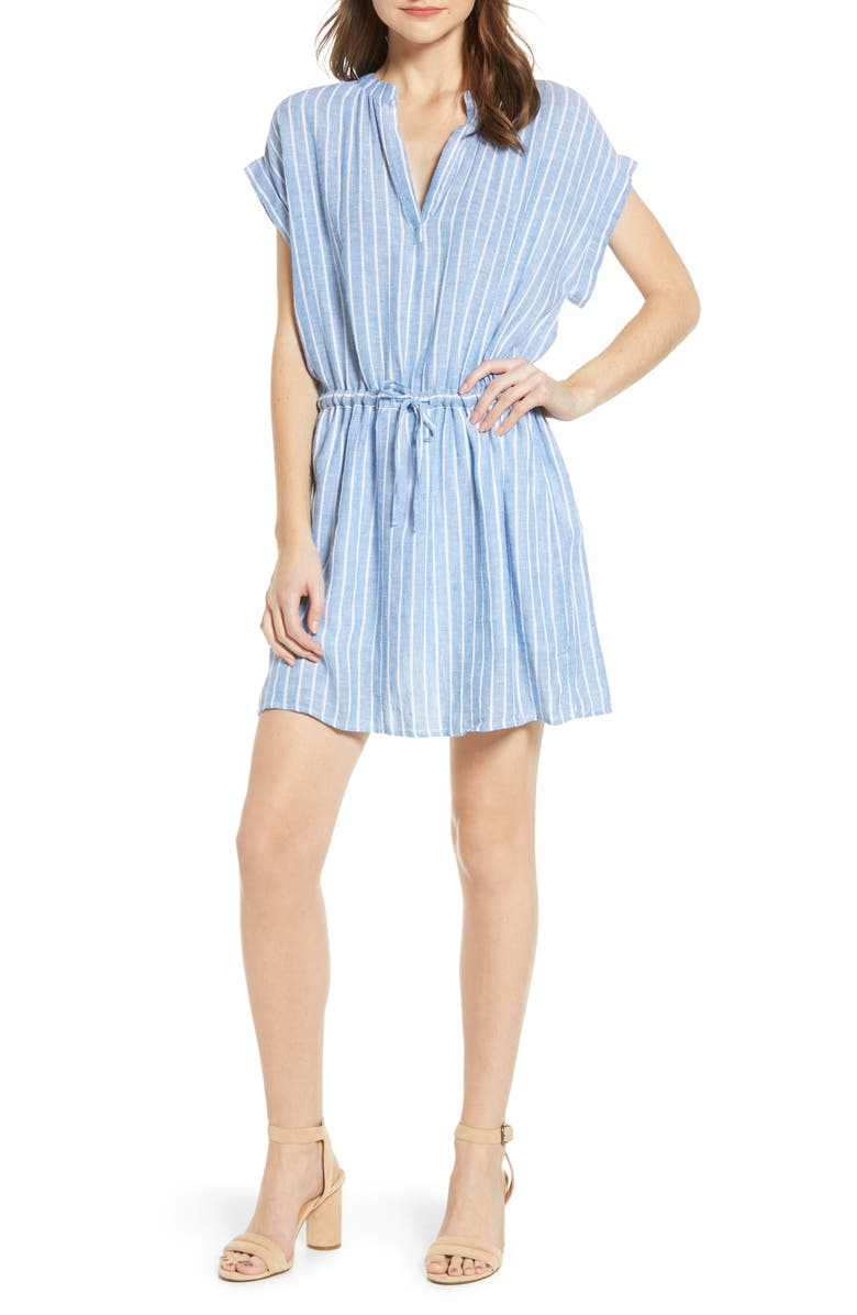 RAILS Emma Stripe Linen Blend Minidress, Main, color, ST. GERMAIN STRIPE
