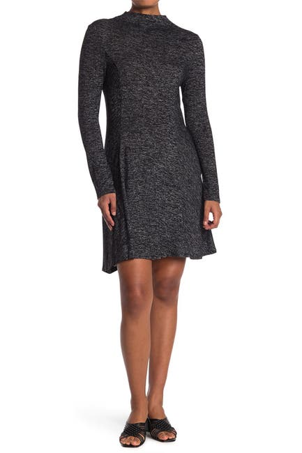 Image of 14TH PLACE Long Sleeve Funnel Neck Dress