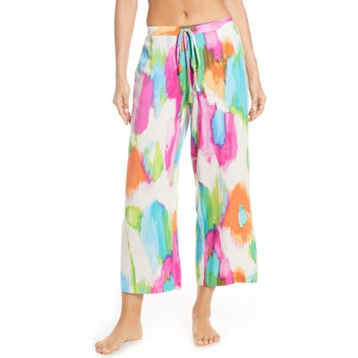 Natori Aurora Wide Pajama Pants, White
