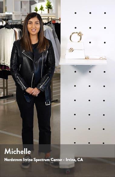 Small Brigitta Leather Top Handle Satchel, sales video thumbnail