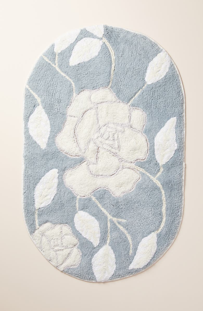 ANTHROPOLOGIE Tangier Floral Bath Mat, Main, color, 020