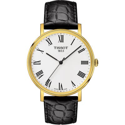 Tissot Everytime Classic Leather Strap Watch,