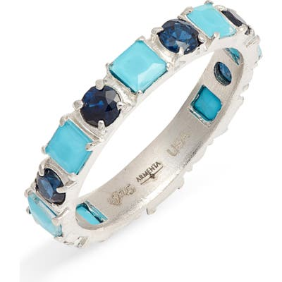 Armenta New World Turquoise & Sapphire Ring