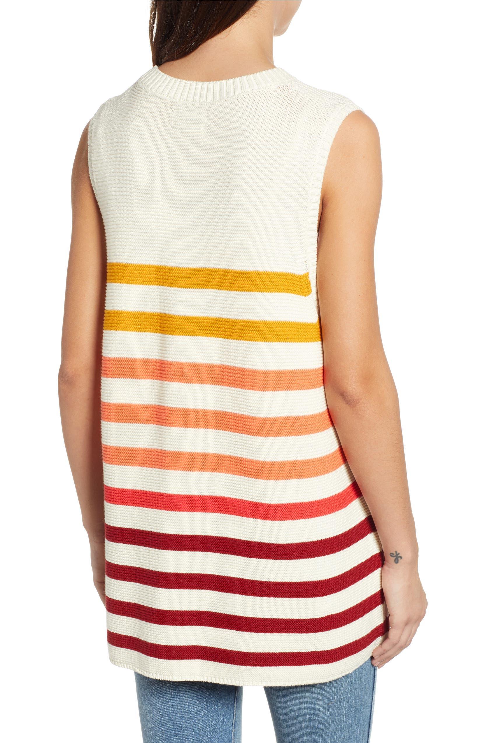 e693e9a0da12 Lucky Brand Ombré Stripe Linen Blend Sweater Shell | Nordstrom