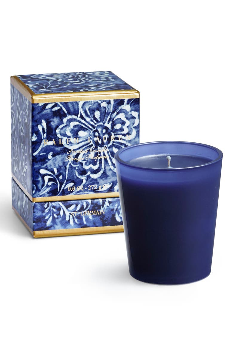 RALPH LAUREN St. Germain Single Wick Scented Candle, Main, color, BLUE