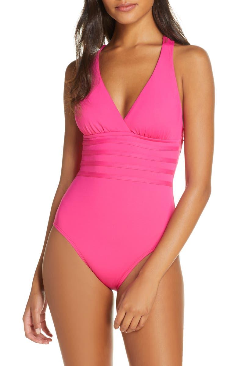LA BLANCA Island Goddess One-Piece Swimsuit, Main, color, PNK
