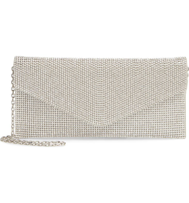 JUDITH LEIBER Couture Beaded Envelope Clutch, Main, color, 040
